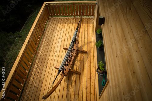 Terrasse de Chalet en bois - 215405053