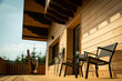 Terrasse de Chalet en bois - 215409692