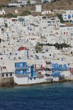 Nice Views From The High Seas Of The Little Venice Neighborhood In The City Of Chora On The Island Of Mykonos. Art History Architecture. July 3, 2018. Chora, Mykonos Island, Greece. - 215411475