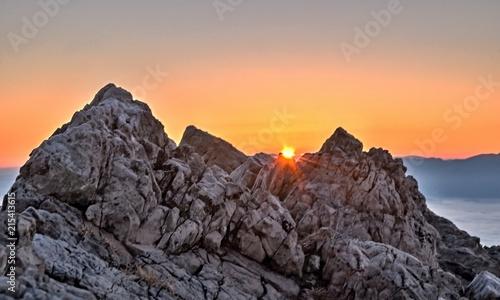 Canvas Oranje eclat rock