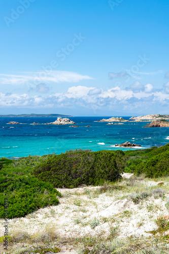 Canvas Blauw Postcard from La Maddalena