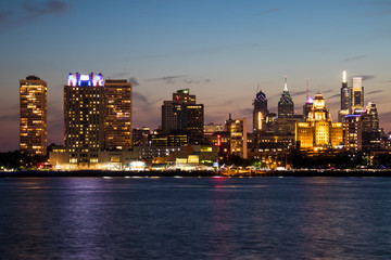 The downtown Philadelphia skylines