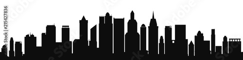 Black city silhouette - vector for stock - 215427836