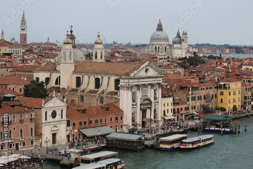Foto Spatwand Diepbruine Venezia