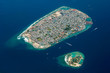 Aerial photograph of Malé, capital island of Maldives