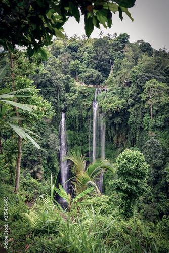 Fotobehang Bali Sekumpul Waterfall in the jungle, Bali, Indonesia