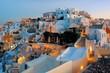 Leinwanddruck Bild - Santorini skyline sunrise