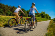 Leinwandbild Motiv Healthy lifestyle - people riding bicycles
