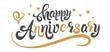 Anniversary card. Happy anniversary card design.