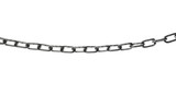 metal chain isolated on white background, clipping path - 215494802