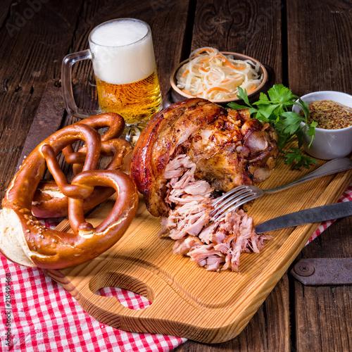 crisp and crusty original Eisbein in Bavarian - 215495468