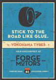 Vintage Car Garage Poster