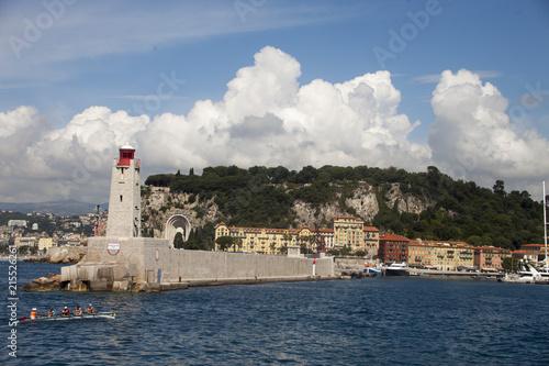 Canvas Nice Francia,Nizza,il porto e il molo turistico.