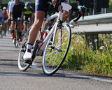 professional cyclist takes part in a road cycling race