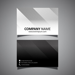 Business card with a striped design
