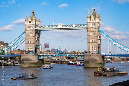 Foto Spatwand London Tower Bridge in London, UK