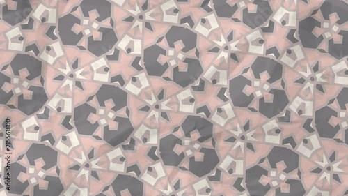 Spinning Geometric Fractal Kaleidoscope Neutral Pink Tones © blackboxguild