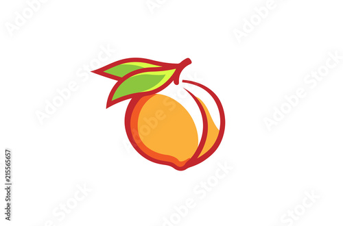 Peach Orange Logo Design Illustration - 215565657
