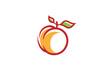 Peach Orange Logo Design Illustration - 215566286