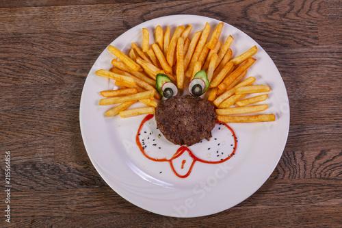 Foto Murales Kids menu - cutlet with potato
