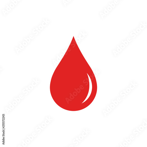 Blood drop. Vector. Isolated. - 215572243