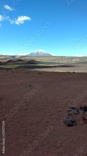 Foto Spatwand Chocoladebruin Volcán