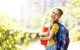 Girl with backpack - 215579898
