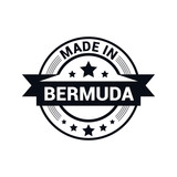 Bermuda stamp design vector