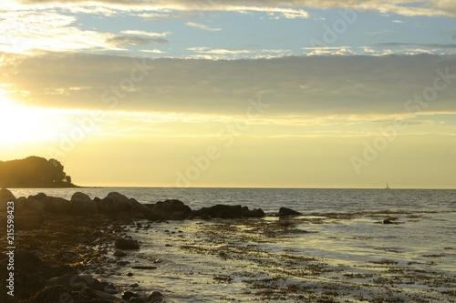 Acrylglas Pier magisches Licht an der Ostsee Küste