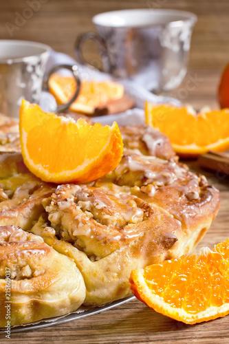 Orange bun cake