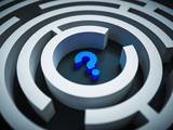 Question mark in the center of a maze - 215618256