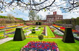 Fototapeta Fototapeta Londyn - Hampton Court Garden in spring, London, UK © Mistervlad