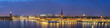 Stockholm panorama night city skyline at Stockholm City Hall and Gamla Stan, Stockholm Sweden
