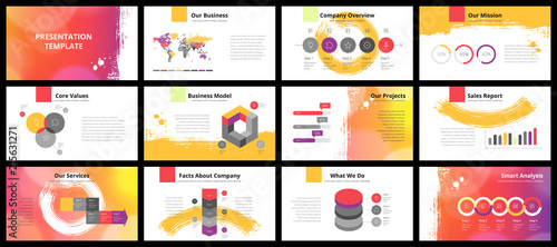 Business presentation templates - 215631271