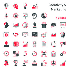 Creativity & Marketing - Iconset © kartoxjm