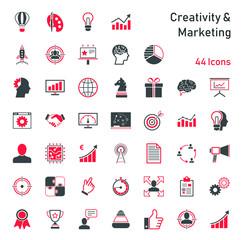 Creativity & Marketing - Iconset © ii-graphics
