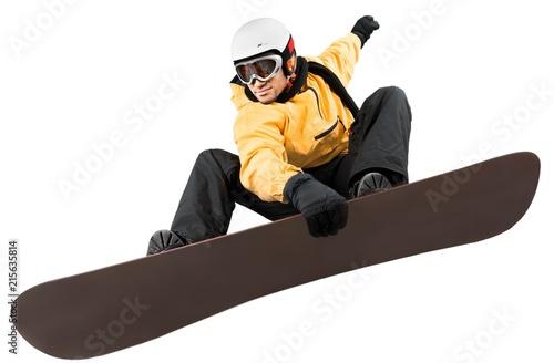 mata magnetyczna Snowboarder Making Big Air Isolated