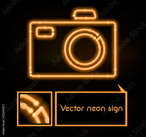 Vector neon sign photo studio