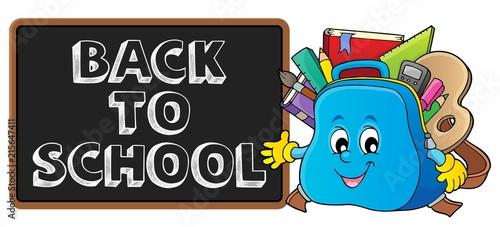 Canvas Voor kinderen Back to school design 1