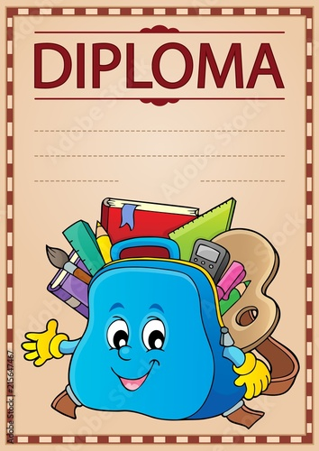 Canvas Voor kinderen Diploma design image 3