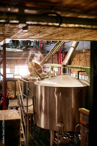 Beer Brewery With Modern Equipment