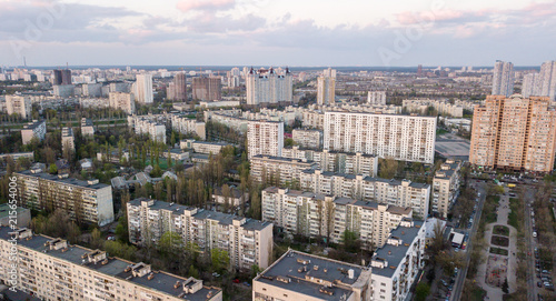 Canvas Kiev Aerial view of residential buildings in Kiev, Ukraine