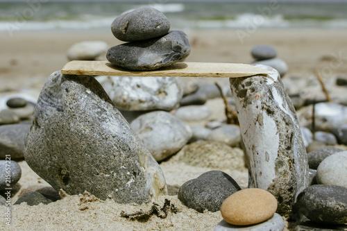 Plexiglas Zen Stenen Ostseeinsel Rügen