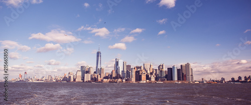 Panorama of New York City with Manhattan Skyline over Hudson River - USA - 215665850