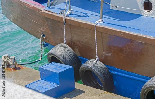 In de dag Schip Wooden boat near the pier