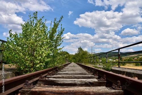 Foto Spatwand Spoorlijn Olad Rail Bridg