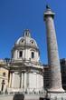 Quadro Church Santissimo Nome di Maria al Foro Traiano and Trajan's Column in Rome, Italy