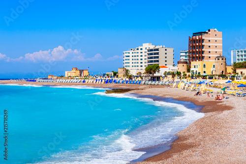 Rhodes island city beach, Greece
