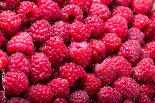 Ripe raspberry background - 215725610