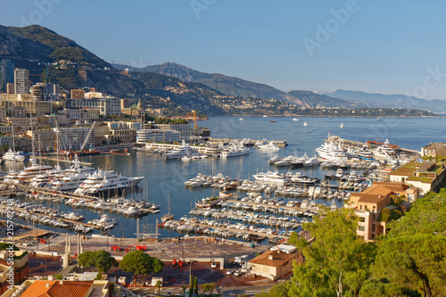 Fototapeta Monaco - The harbour - View from the Rock (